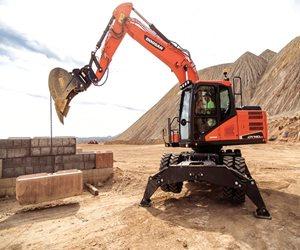 Doosan DX140W-5 Wheeled Excavator